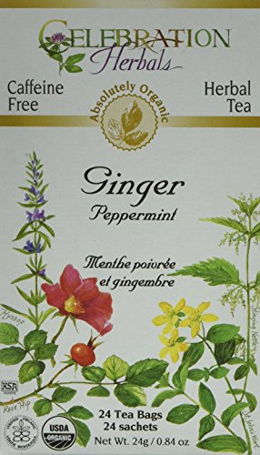 (CELEBRATION HERBALS Ginger Peppermint Tea Organic 24 Bag, 0.02 Pound)