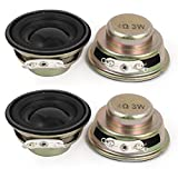 4 Pcs 3W 4 Ohm 40mm Round External Magnet Electronic Speakers Trumpet