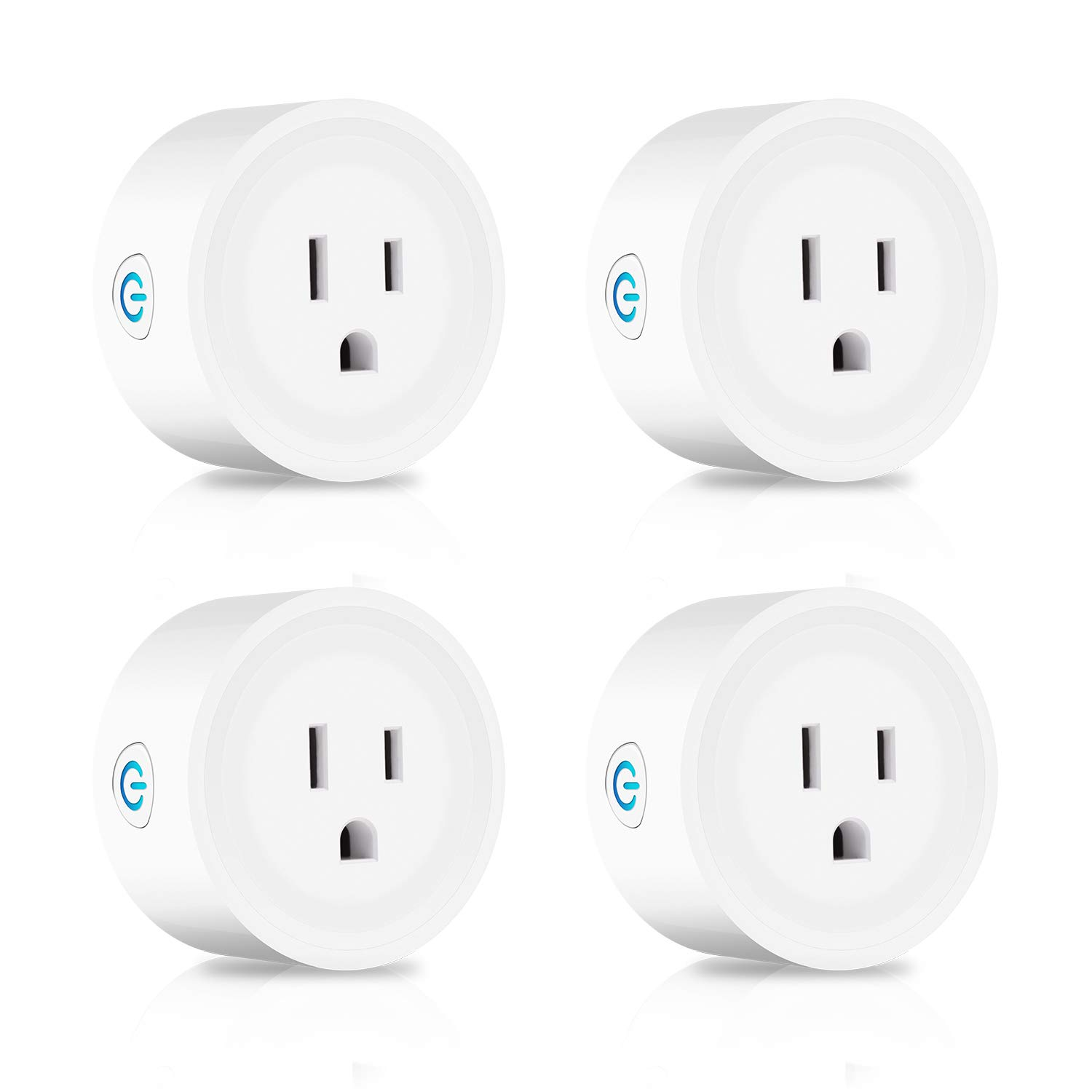 Smart Plug Mini Wifi Plug 4 Pack, Alexa Smart Outlet Timer Compatible with Amazon Alexa Google Assistant and IFTTT, No Hub Required Remote Control Socket by YOUXIU
