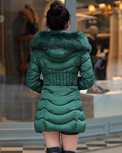 Faux Veste Vert Blouse Capuche Manteau Blouson ZhuiKun Femme Lgre Fourrure paissir Doudoune Parka qISwSBntU