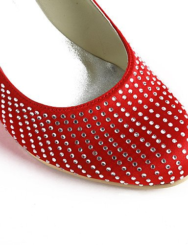 3 3 Zapatos silver Rojo Fiesta Noche Amarillo De 4in Boda 4in Rosa purple negro Punta Zq Azul tacones Vestido Y 3 Redonda boda Morado tacones Blanco 3in qFRzwd