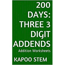 200 Addition Worksheets with Three 3-Digit Addends: Math Practice Workbook (200 Days Math Addition Series 8)