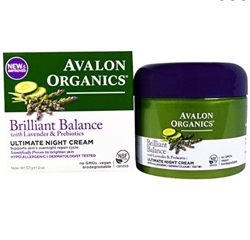 Avalon Organics Brilliant Balance Lavender and Prebiotics Ultimate Night Cream 57 Grams RLSDXYZ07117