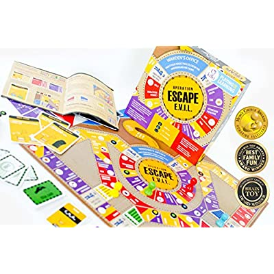 Kitki Escape Evil Fun STEM Board Game with Real Science Tricks & Trivia Toy for Girls & Boys: Toys & Games