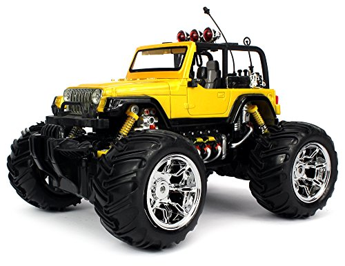 Velocity Toys 1:16 Scale Big Size Off-Road Monster Remote Control Jeep Truck