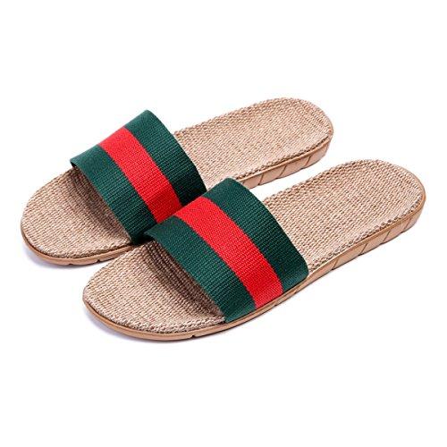 Pantofole Da Casa Traspirante Leggera Bestfur Uomo Verde