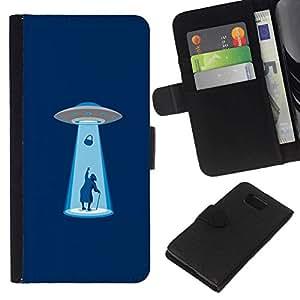 All Phone Most Case / Oferta Especial Cáscara Funda de cuero Monedero Cubierta de proteccion Caso / Wallet Case for Samsung ALPHA G850 // Alien Abduction - Funny