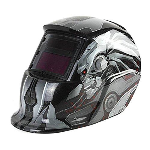 Cikuso Mascara de Soldadura Capucha Solar Automatico Casco de soldadura Proteccion facial Robot energia solar para recargar