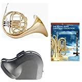 Band Directors Choice Single French Horn in F - Young Band Christmas Collection Pack; Includes Student French Horn, Case, Accessories & Young Band Christmas Collection Book