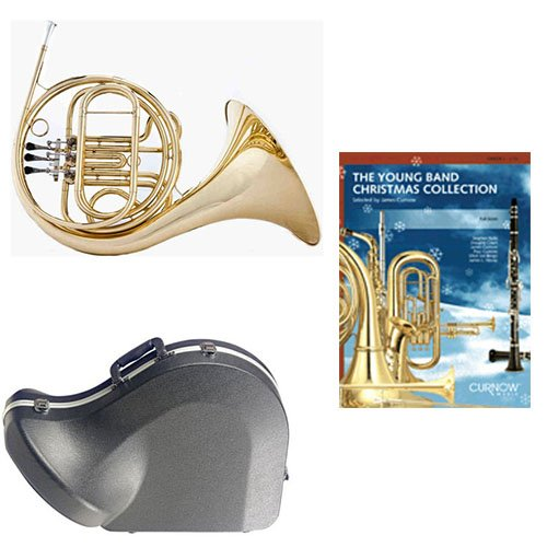 Band Directors Choice Single French Horn in F - Young Band Christmas Collection Pack; Includes Student French Horn, Case, Accessories & Young Band Christmas Collection Book by French Horn Packs