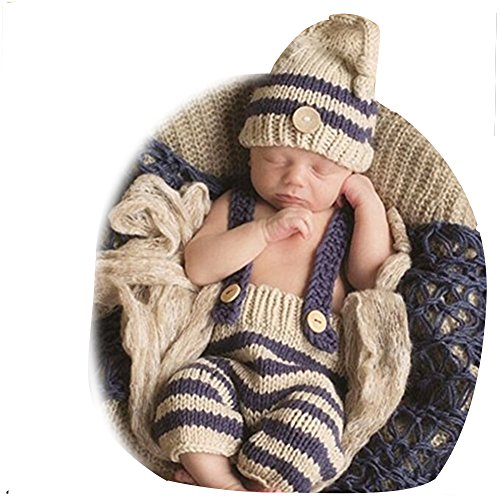Fashion Cute Newborn Baby Photography Props Outfits Boy Girl Crochet Knitted Hat Pant (Cute Baby Costumes For Girls)