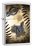 Zippo MLB Milwaukee Brewers Brushed Chrome Lighter