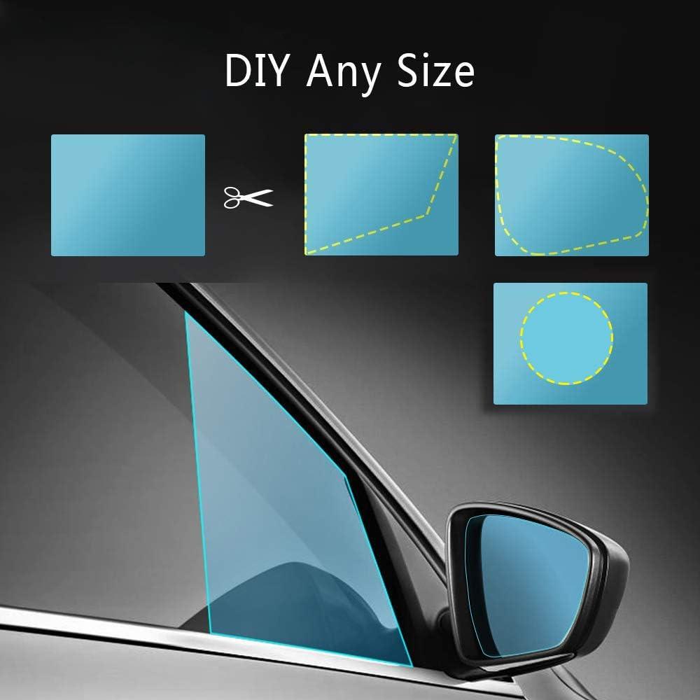 ANKIA Car Rearview Mirror Anti Water Mist Film Anti-Fog Anti-Glare Anti-Scratch Nano Coating Rainproof Rearview Mirror Waterproof Membrane Window Clear Protective Film Rain Shield 5558968207 2 Pcs