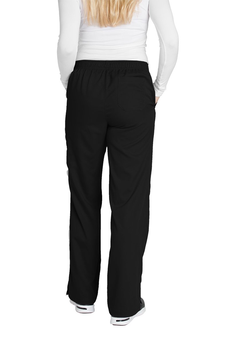 Grey's Anatomy Women's 4245 Junior Fit 4-Pocket Elastic Back Scrub Pants, Black, Small/Petite by Barco (Image #2)