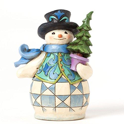 Jim Shore for Enesco Heartwood Creek Pint Sized Snowman w...