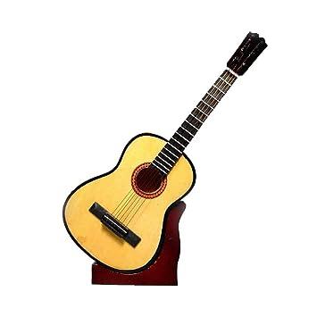 2503-1135-Guitarra española decorativa miniatura en madera ...