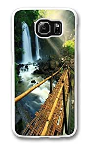 Beautiful waterfall 1 Custom Samsung Galaxy S6/Samsung S6 Case Cover Polycarbonate White