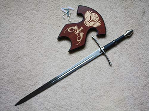 (S4815 Lord of The Rings Ranger STRIDER'S Medium Aragorn Sword W/Wall Mount 26