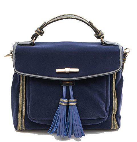 Para Barato Venta 2018 Trussardi Borsa Donna Judy Velvet Handbag Blue 5b2tjy