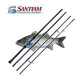 Santiam Fishing Rods Travel Rod 4 Piece 10′ 12-25lb Surf Rod Review