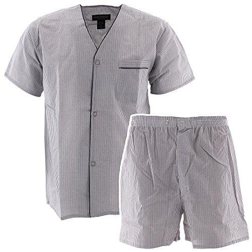 State O Maine Men's Blue Striped Short Pajamas L