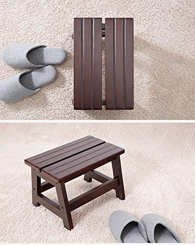 SED Coat Rack-Hanger Floor Bedroom Solid Wood Shoe Bench Stool Living Room Entrance Sofa Children's Stool Low Stool Sturdy Space Saving Storage Rack by SED (Image #2)