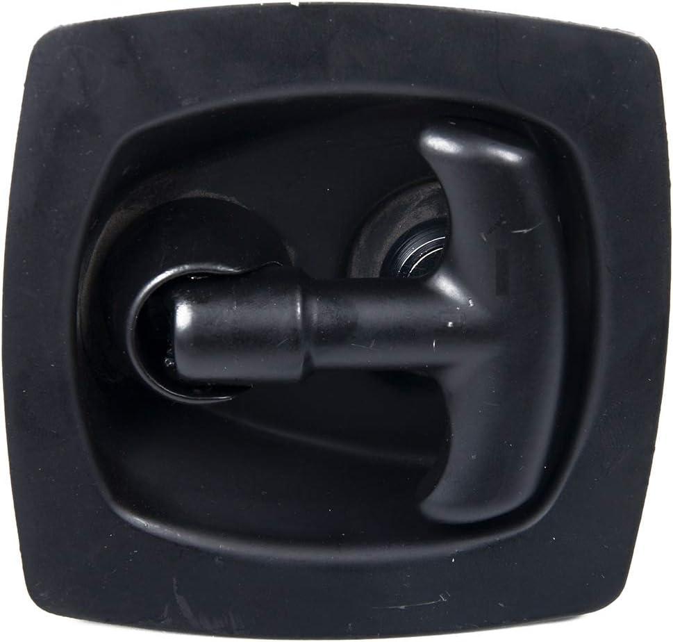 Noir Argent Vosarea Poign/ée de Serrure T Acier au Carbone Pliable Avec 2 Cl/és Verrouillage Bo/îte /à Outils pour Voiture Camion Remorque Caravane