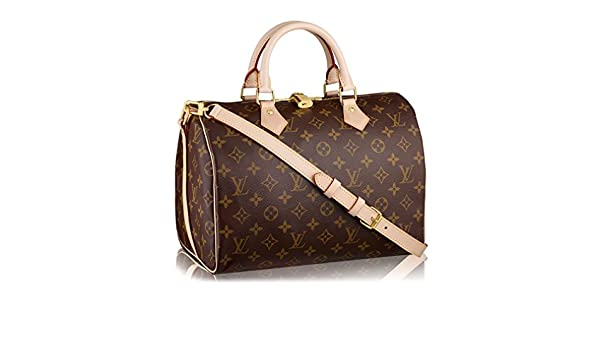 06cd4d34e1bf Louis Vuitton Monogram Canvas Speedy Bandouliere 30 Article M41112 Made in  France  Handbags  Amazon.com