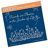 Groovi Embossing Plate A5 Square ~ Floral Grasses, GRO40443