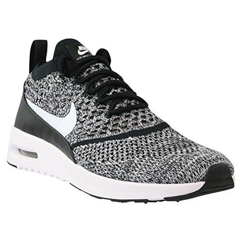 Nike Air Max Thea Ultra Flyknit Women Sneaker Trainer 881175-001 (38, Black/White)