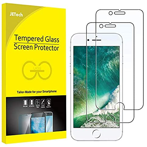 - 51T5aTq6ADL - JETech Screen Protector for Apple iPhone 8 and iPhone 7, 4.7-Inch, Tempered Glass Film, 2-Pack