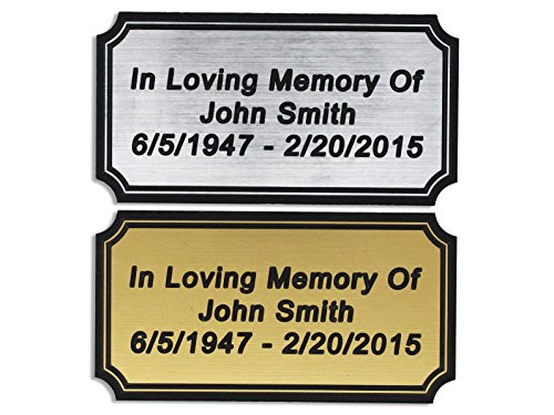 Customized Engraved Plaque Gold or Silver Name Plate Custom - Gold Plate Brass Engraving