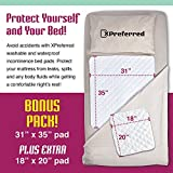 2 Pack Waterproof Incontinence Bed Pads