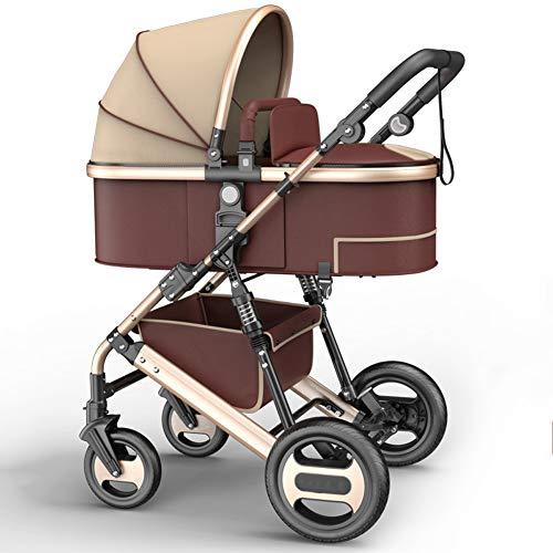 MROSW High Landscape Baby Stroller 2 in 1 Stroller Two Way Baby Pram Portable Newborn Pram Folding Kid Car Send Gifts