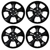 #6: TuningPros WSC3-616B17 4pcs Set Snap-On Type (Pop-On) 17-Inches Matte Black Hubcaps Wheel Cover