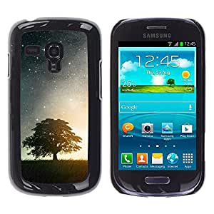 Stuss Case / Funda Carcasa protectora - HERMOSA NOCHE ESTRELLADA ESTRELLAS Y ÁRBOL - Samsung Galaxy S3 MINI 8190