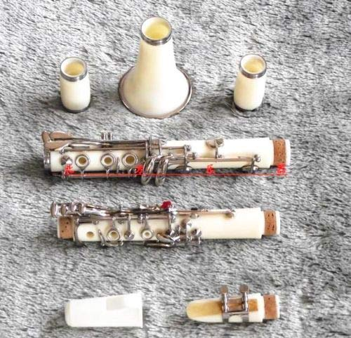 High-grade ABS Color Clarinet Bb White+Case