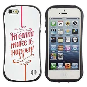 Suave TPU GEL Carcasa Funda Silicona Blando Estuche Caso de protección (para) Apple Iphone 5 / 5S / CECELL Phone case / / It Happen Quote Motivational Text /