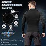 LEICHR Men Compression Shirt Long Sleeve, Cool