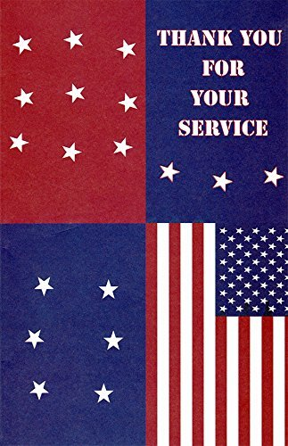 Amazon Com Patriotic Thank You For Your Service Greeting Cards In A