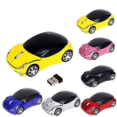Mchoice 2.4GHz 1200DPI Car Shape Wireless Optical Mouse USB Scroll Mice for Tablet Laptop Computer