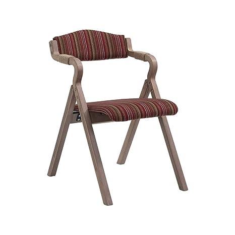 BGTRRYHY Raya roja Retro sillas Plegables de Madera doblada ...