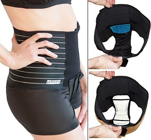 Mama Strut Postpartum Support Pelvic Binder System with Ice/Heat Therapy (Small)