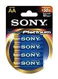 Sony Stamina Platinum Alkaline AA Batteries (4-Pack)
