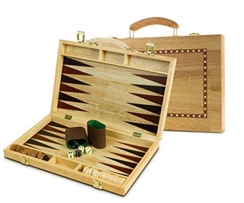 Sterling Games 15 inch Wooden Backgammon (15 Backgammon Set)
