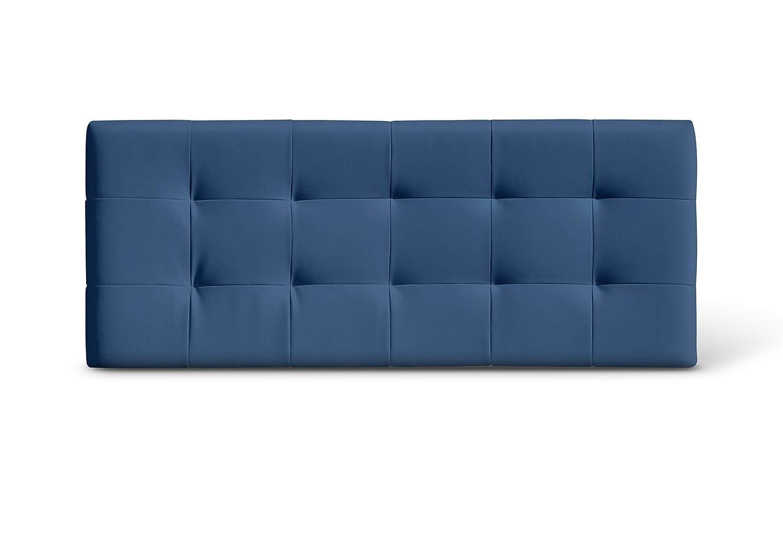 SUENOSZZZ-ESPECIALISTAS DEL DESCANSO Cabecero de Cama San Francisco tapizado en Polipiel para Camas de 135 145 x 57 cm Polipiel Azul