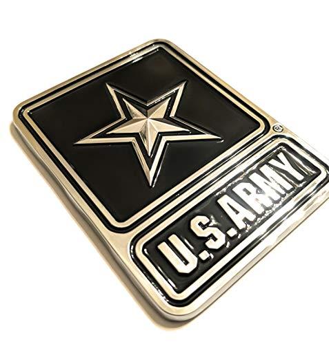 Shadow Six Romeo Military Army Chrome Metal Decal Auto Emblem (Army Logo)