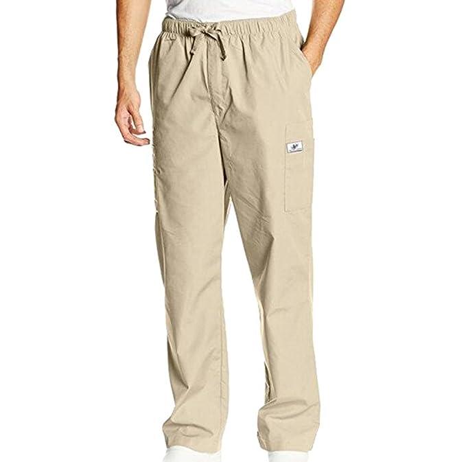 Ketamyy Hombre Color Puro Tipo Recto Sección Delgada Pantalones Con Cordón Casuales Y2F6DAL