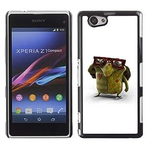 Shell-Star Art & Design plastique dur Coque de protection rigide pour Cas Case pour Sony Xperia Z1 Compact / Z1 Mini / D5503 ( Glasses Green Monster Love Creature Art )