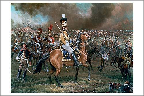 Art Limited Fine Prints Edition (Mark Churms Fine Art Prints: DIE UBERLEBENDEN - Saxon Cavalry at Borodino (1812) Signed Limited Edition Paper Print)